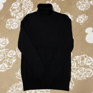 ムジルシリョウヒン(MUJI (無印良品))の【無印良品】タートルネックセーター ブラック size M(ニット/セーター)