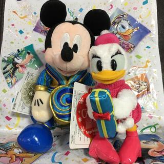 ディズニー(Disney)のディズニー ぬいぐるみバッジ ミッキー デイジー(ぬいぐるみ)