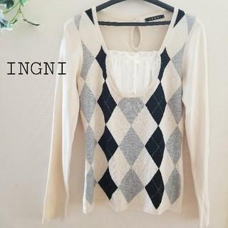 INGNI - ✨INGNI✨アーガイル柄ニット カットソー