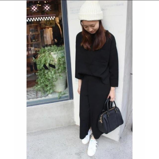 IENA SLOBE(イエナスローブ)のIENA SLOBE ニットセットアップ黒  レディースのトップス(ニット/セーター)の商品写真