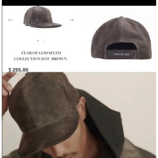 フィアオブゴッド(FEAR OF GOD)のFEAR OF GOD SUEDE CAP sixth collection(キャップ)