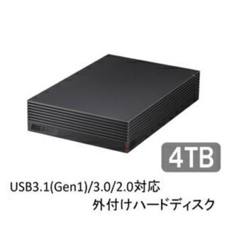 バッファロー(Buffalo)のBUFFALO HD-LD4.0U3-BKA 外付けHDD(その他)