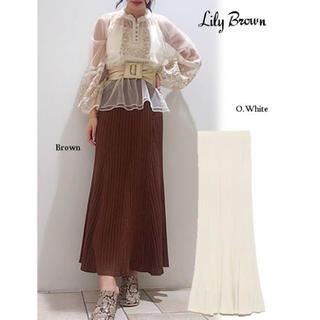 Lily Brown - リリーブラウン  透かし柄編みニットスカート 新品