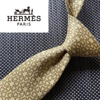 Hermes - 【1点限り】エルメス フランス製最高級シルク100%ネクタイ イエロー 花柄