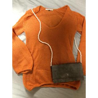 ルシェルブルー(LE CIEL BLEU)のルシェルブルー購入 オレンジもヘアニット(ニット/セーター)