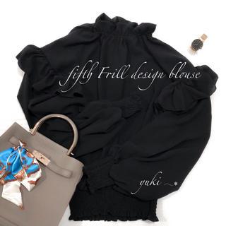 fifth - fifth フリルデザインブラウス ブラック,,❁