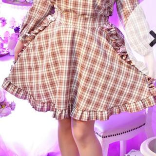 大きいサイズ リボンフリルスカート ピンク(ミニスカート)
