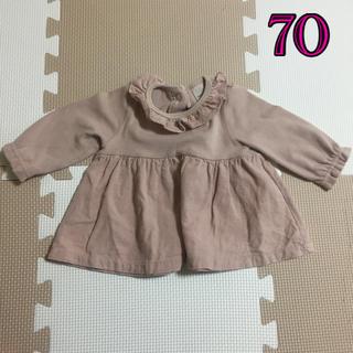 プティマイン(petit main)のプティマイン 70 長袖 ロンT 女の子(Tシャツ)