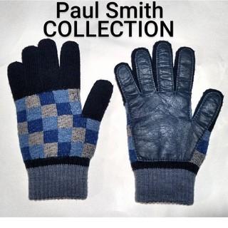 ポールスミス(Paul Smith)のポールスミス■コレクション■ウール × ラムレザー■スマホ操作可能■手袋■メンズ(手袋)