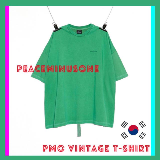 PEACEMINUSONE(ピースマイナスワン)の【希少】PMO VINTAGE T-SHIRT ピースマイナスワン ジヨン メンズのトップス(Tシャツ/カットソー(半袖/袖なし))の商品写真