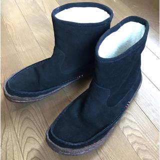 アグ(UGG)のReef スエードムートンブーツ 黒 28cm(ブーツ)
