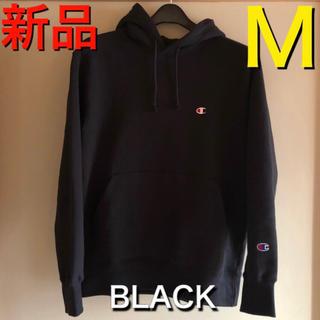 チャンピオン(Champion)の新品 レディース  チャンピオン パーカー トレーナー M 黒 メンズ 即購入(パーカー)