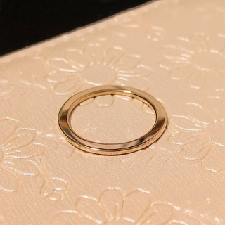 RAPA ペタンコリング K18 販売証明書付き #8(リング(指輪))