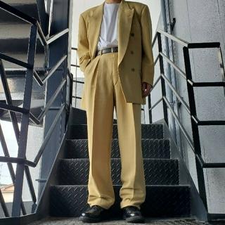 ジョンローレンスサリバン(JOHN LAWRENCE SULLIVAN)のヴィンテージ セットアップ ダブルスーツ ペールイエロー(セットアップ)