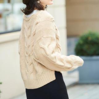 le.coeur blanc - 新品⭐️タグ付き♪ルクールブラン定価9780円お洒落なニット ベージュ大特価‼️