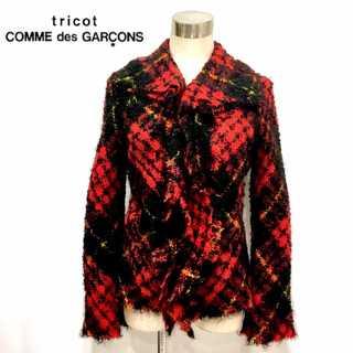 COMME des GARCONS - 極美品 トリコ コムデギャルソン タータンチェック モヘア ジャケット