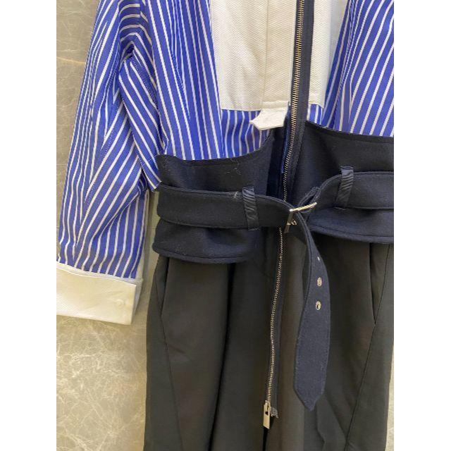 sacai(サカイ)のSacai 20AW contrast panel shirt dress レディースのスカート(ロングスカート)の商品写真
