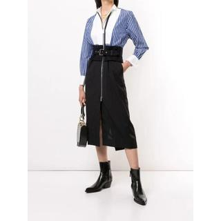 sacai - Sacai 20AW contrast panel shirt dress