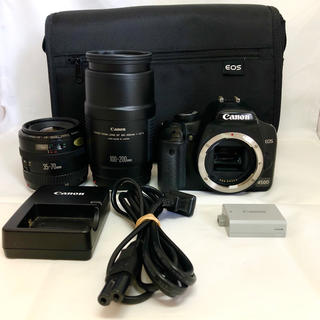 キヤノン(Canon)のバッグ付☆Canon キヤノン EOS 450D ダブルズームセット(デジタル一眼)