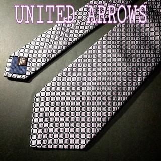 UNITED ARROWS - 【極美品】UNITED ARROWS スクエア ドット  ネクタイ パープル