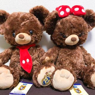 ディズニー(Disney)のユニベア 初代 モカ プリン ミッキー ミニー タグ付き(ぬいぐるみ)