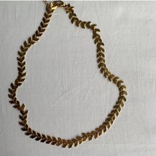 ロキエ(Lochie)のchene de maison feuille gold choker(ネックレス)