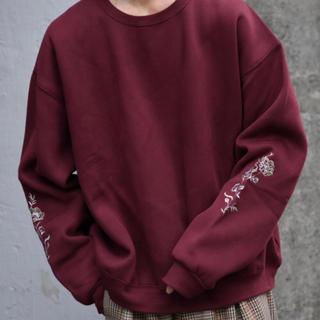 ハレ(HARE)のkutir  袖刺繍スウェット(スウェット)