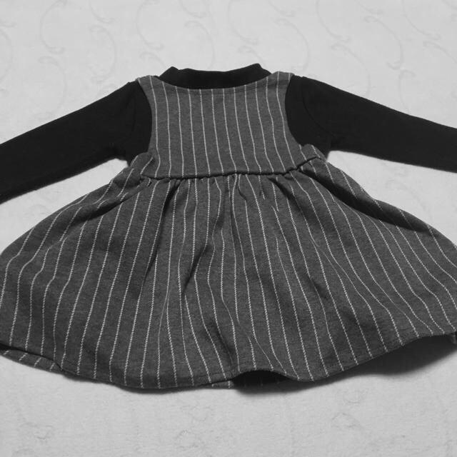 Branshes(ブランシェス)の[子供服] レイヤードワンピース  グレンチェック キッズ/ベビー/マタニティのキッズ服女の子用(90cm~)(ワンピース)の商品写真