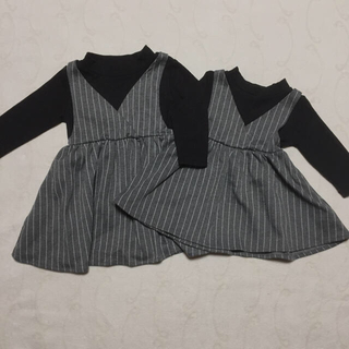 Branshes - [子供服] レイヤードワンピース  グレンチェック