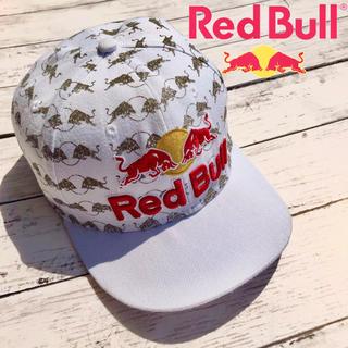 NEW ERA - RED BULL レッドブル キャップ 帽子 総ロゴ 刺繍 白 ホワイト