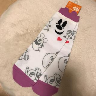 Disney - ディズニー ハロウィン かわいい ソックス 靴下 ミッキー 暗闇で光る 蛍光加工