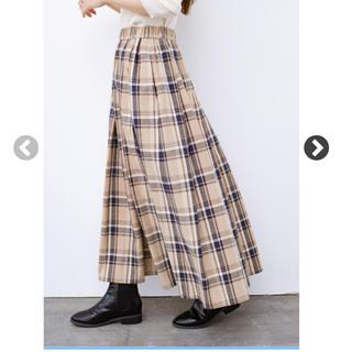 【値下げしました】チェックマキシスカート