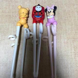 Disney - エジソン・お箸・子供用・練習用・セット・ミニー・プーさん・ジェイムス