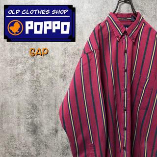 GAP - オールドギャップGAP☆レトロストライプシャツ 90s