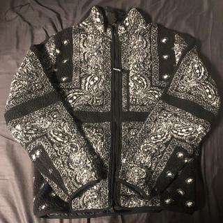シュプリーム(Supreme)のsupreme bandana fleece jacket M フリース(その他)