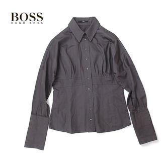 ヒューゴボス(HUGO BOSS)のHUGO BOSS ヒューゴボス センターギャザー◎ロングカフスシャツ(シャツ/ブラウス(長袖/七分))
