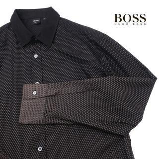 ヒューゴボス(HUGO BOSS)のHUGO BOSS ヒューゴボス グラデーション総柄◎SLIM FITシャツ(シャツ)