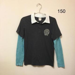 マザウェイズ(motherways)のマザウェイズ★襟付きレイヤード風カットソー(150)綿100%(Tシャツ/カットソー)