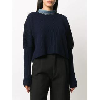 sacai - Sacai combined cropped jumper