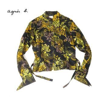 アニエスベー(agnes b.)のフランス製agnis.b アニエスベー シルクシャツ/ブラウス(シャツ/ブラウス(長袖/七分))