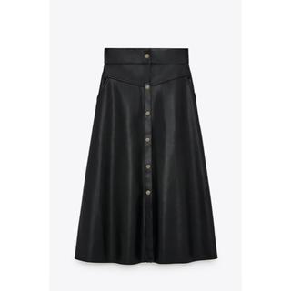 ZARA - お値下げ中 レザー風 スカート