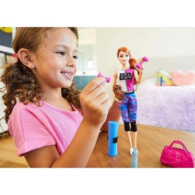 Barbie(バービー)の【バービー人形】フィットネストレーニングを愛犬と一緒に楽しもう★☆ キッズ/ベビー/マタニティのおもちゃ(ぬいぐるみ/人形)の商品写真
