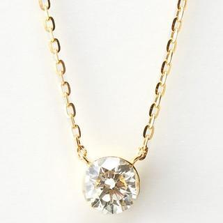 agete - agete K18 ダイヤモンド ネックレス 0.2ct ¥82,500