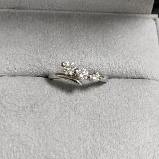 トリロジー(trilogy)の0.5ct ダイヤモンド リング 指輪 0.5 カラット プラチナ(リング(指輪))