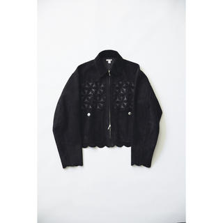 JOHN LAWRENCE SULLIVAN - 20AW MASU Flower Cut Leather Blouson 46