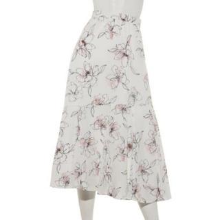 JUSGLITTY - ジャスグリッティー   洗えるラインフラワードレープエアリースカート