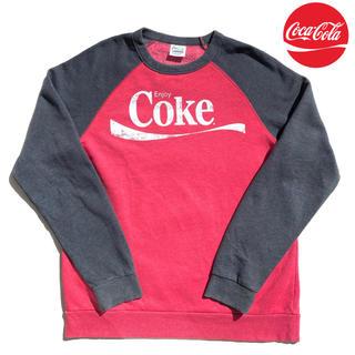 コカコーラ(コカ・コーラ)の【00s】【ヴィンテージ 】コカ・コーラ ラグランスリーブ スウェットシャツ(スウェット)