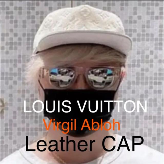 LOUIS VUITTON(ルイヴィトン)の希少19ss ヴァージルアブロー レザーキャップ 白モノグラム メンズの帽子(キャップ)の商品写真