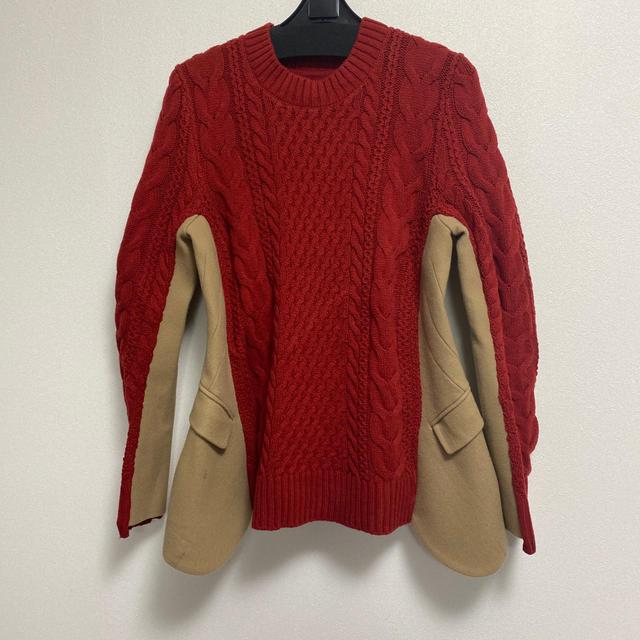 sacai(サカイ)のsacai ジャケットニット メンズのトップス(ニット/セーター)の商品写真