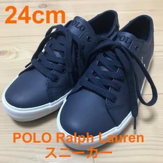 POLO RALPH LAUREN - POLO Ralph Lauren スニーカー(24cm) ネイビー